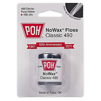 Poh nowax classic 490 dental floss, 100 yards, 1 ea