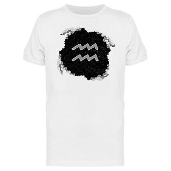 Aquarius Zodiac Sign Sky Tee Men's -Image by Shutterstock