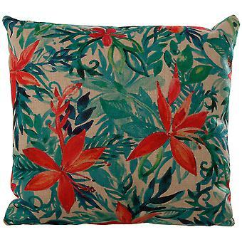 Wellindal Cushion 45x45cm leaves (Decoration , Cushions)
