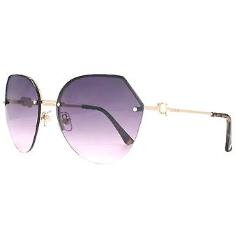 Gafas de sol Lipsy London Hexagon Rimless - Light Gold
