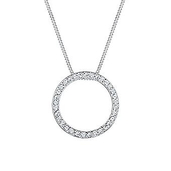 Elli Women's Necklaces in Silver 925 with White Crystal