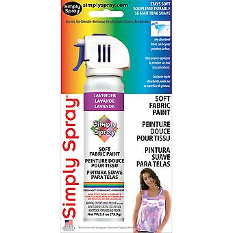 Simply Spray Soft Fabric Paint 2.5 Ounces Lavender Ss3801 222M