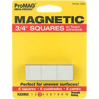 Mega Strong Magnetic Squares with Foam Adhesive 3 4