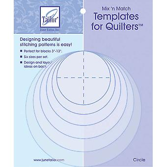 Mix'n Match Templates For Quilters 6 Pkg Circle Jt400 411