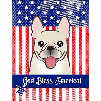God Bless American Flag with French Bulldog Flag Canvas House Size BB2168CHF