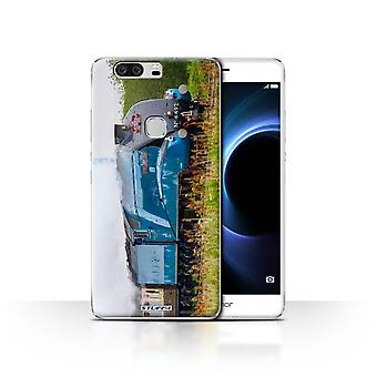 STUFF4 Case/Cover for Huawei Honor V8/Dominion NZ/Blue/Steam Locomotive