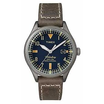 Timex Unisex The Waterbury Navy Dial Brown Strap TW2P84400 Watch