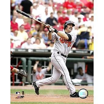 Rafael Palmeiro 2005 - Batting Action Photo Print