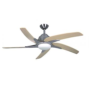 Ceiling fan Viper Plus Stainless Steel with LED lighting 112 cm / 44