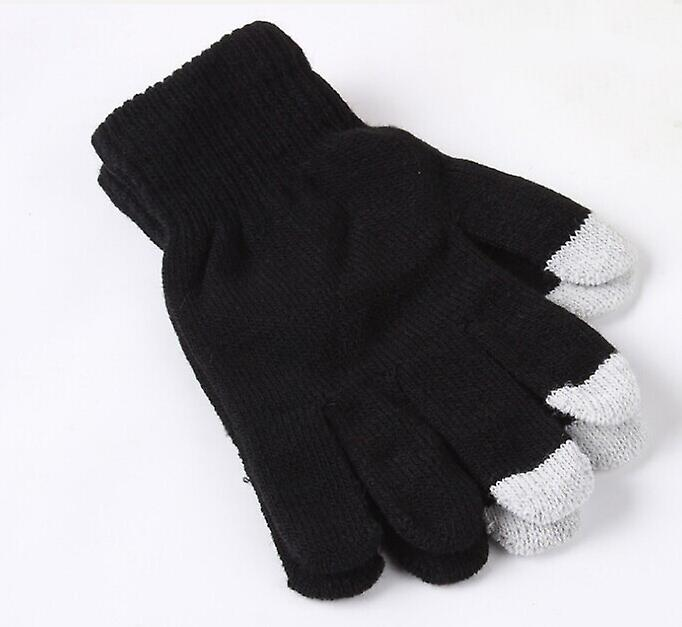 ONX3 Samsung Galaxy J1 (2016) Universal Unisex One Size Winter Touchscreen Gloves For All Smartphones / Tablets (Black)