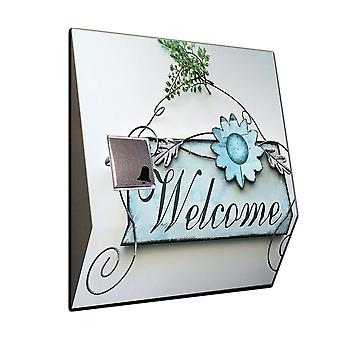 Doorbell with radio receiver - romantic welcome home ring stainless steel