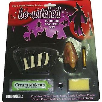 Be-Witched Witch Make Up Kit Fancy Dress Halloween Wicked Witch Horror