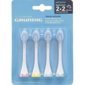 Electric toothbrush brush attachments Grundig 4x Spare Toothbrush Heads 4 pc(s) White