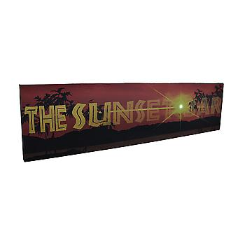 The Sunset Bar LED Lighted Canvas Wall Hanging