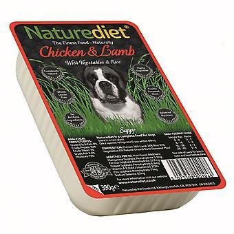 Naturediet kylling og lam med grøntsager & ris 390g (pakke med 18)