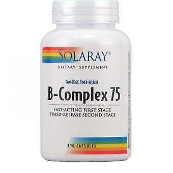 Solaray B Complex Delayed Action 75 mg 100 Capsules (Vitamins & supplements , Vitamins)
