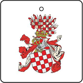 Croatian Crown Land Coat Of Arms Car Air Freshener