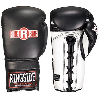 Ringside IMF Tech Sparring Lace Up Boxing Gloves - Black