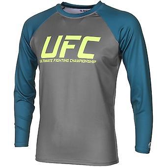 UFC TUF zespół Pettis Rashguard - szary/ciemny turkusowy