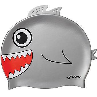 Testa dell'animale della gioventù FINIS Swim Cap - squalo
