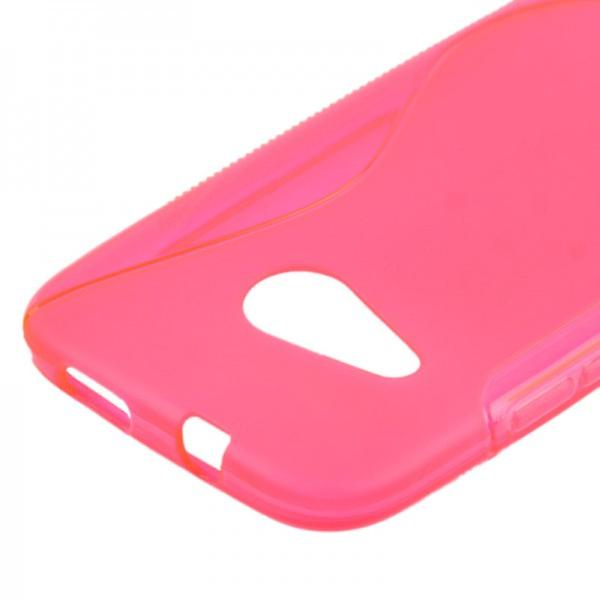 S-line silicone case pink case for HTC one mini 2 M5 2014