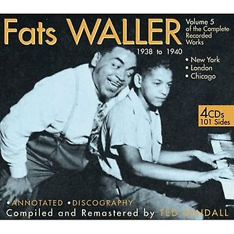 Fats Waller - Fats Waller: Vol. 5-of the Complete Recorded Works 1938-40 [CD] USA import