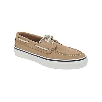 Sperry Mens Washable Bahama Boat Shoes in Tan