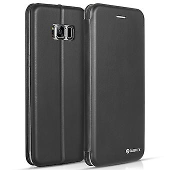 Caseflex Samsung Galaxy S8 Plus Snap Wallet Case Black (Retail Box)