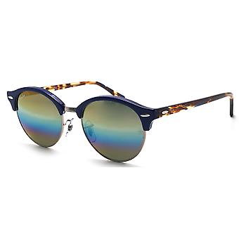 Ray-Ban Clubround Mineral Flash Lenses Blue Sunglasses RB4246-1223C4-51