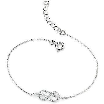 925 Silver Infinity Zirconium Bracelet