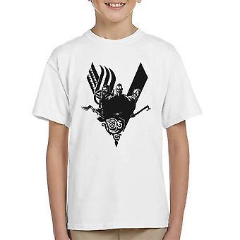 Plyndre vikingerne Ragnar Lothbrok Kid's T-Shirt