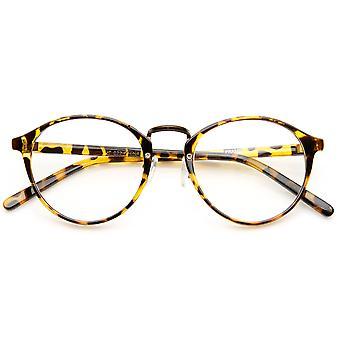 Винтаж-Вдохновленный очки прозрачные линзы P3 рогатый мост металла обода