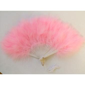 Feathered Fan In Baby Pink. Beautiful For That Night Out.(1)