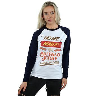 Amerikanske guder kvinders Buffalo rykvise langærmet Baseball Shirt