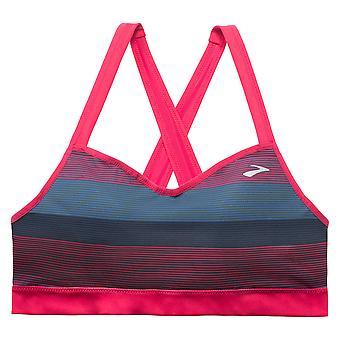 Brooks moving comfort sports bra UpRise cross back pink - 300614-625