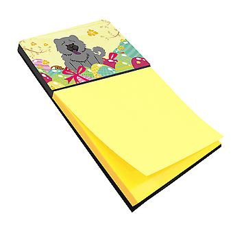 Carolines Treasures  BB6139SN Easter Eggs Chow Chow Blue Sticky Note Holder