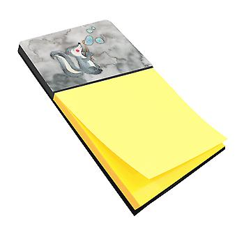 Carolines Treasures  BB7352SN Skunk and Bubbles Watercolor Sticky Note Holder