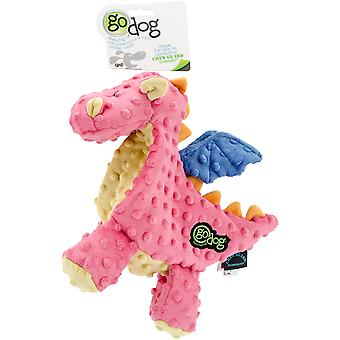 goDog Dragons avec Chew Guard Large-Coral 770638