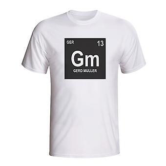 Gerd Muller Niemcy okresowy T-shirt (biały)