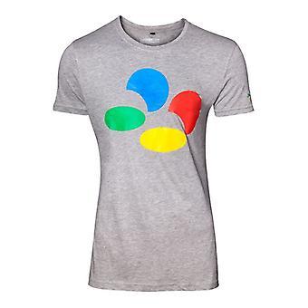 Nintendo Controller Button Mens Grey T-Shirt XX-Large (TS289010NTN-2XL)