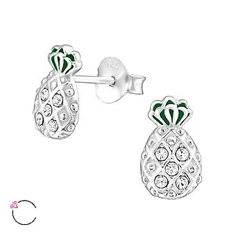 Pineapple crystal from Swarovski® - 925 Sterling Silver Ear Studs - W32924X
