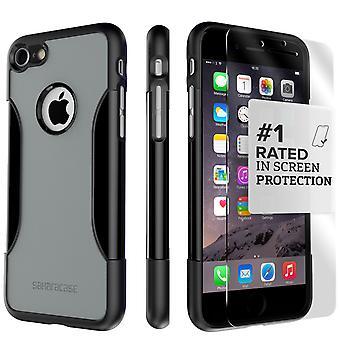 SaharaCase iPhone 8 y 7 caso clásico de niebla gris, paquete de Kit de protección con vidrio templado de ZeroDamage®