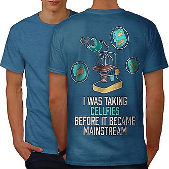 Videnskab ironi sjov mænd kongeblå T-shirt tilbage | Wellcoda