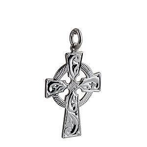 Croix celtique Argent 28x20mm gravé à la main
