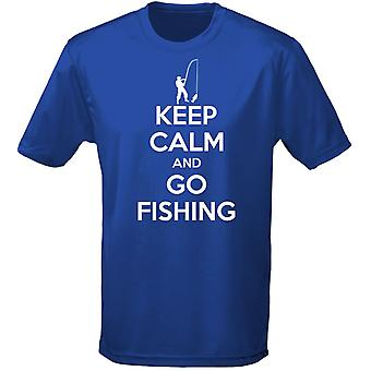 Keep Calm And Go Fishing Angling Carping Mens T-Shirt 10 Colours (S-3XL) by swagwear