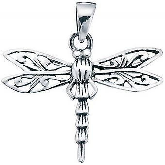 Beginnings Filigree Dragonfly Pendant - Silver
