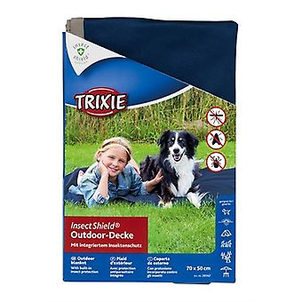 TRIXIE INSECT SHIELD OUTDOOR DEKEN DONKERBLAUW 150X100 CM