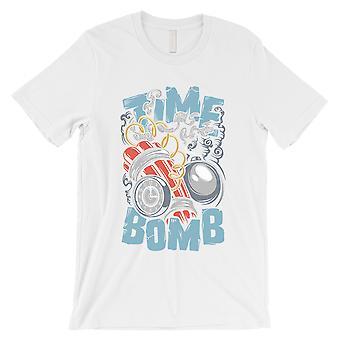 Zeitbombe Mens weiß Rundhals T-Shirt Geschenk lustige Grafik-Design T-Shirt