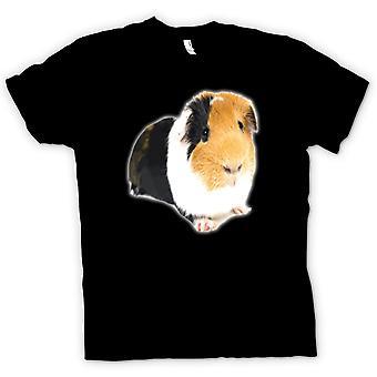 T-shirt-cavia marrone e bianco