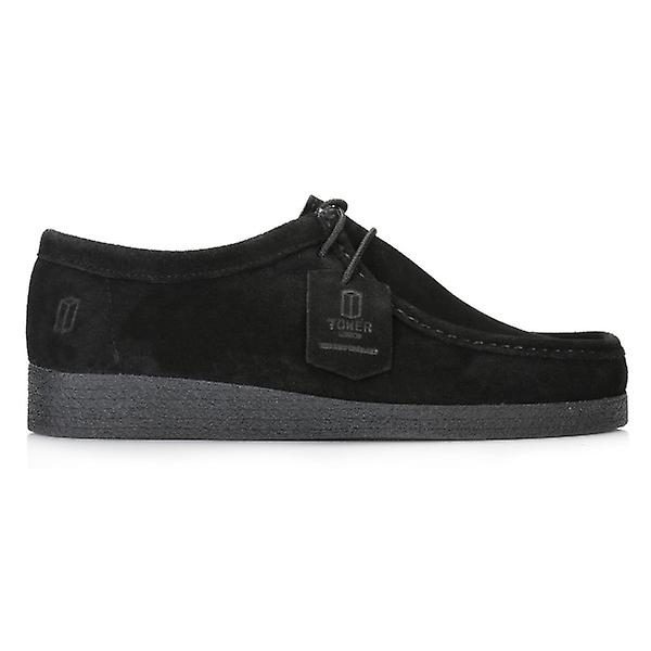 TOWER London Black Wallabe Suede Shoes